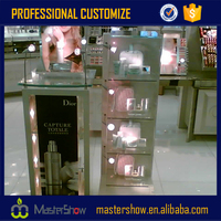 New design cosmetic display cabinet and showcase