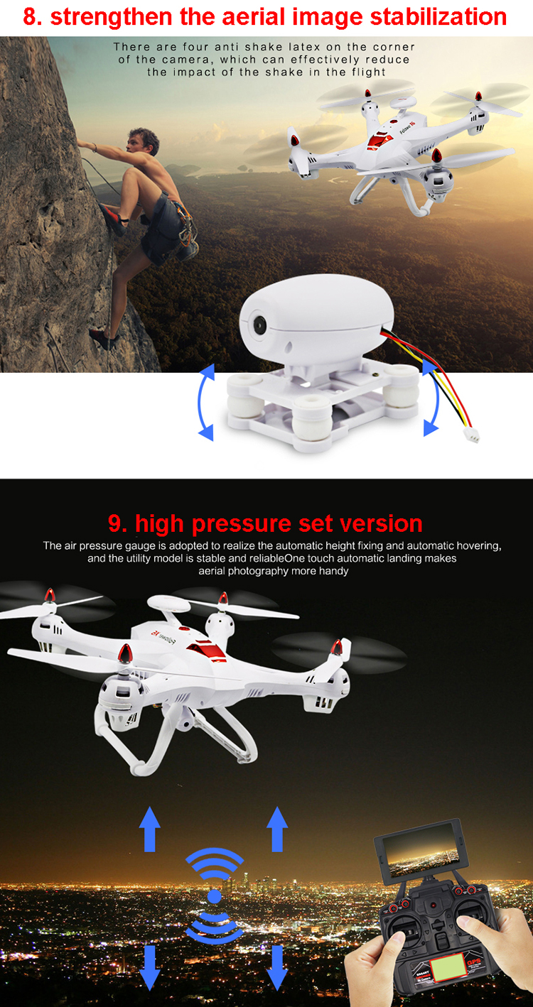 aircraft model long range gps follow me selfie rc drone with hd camera