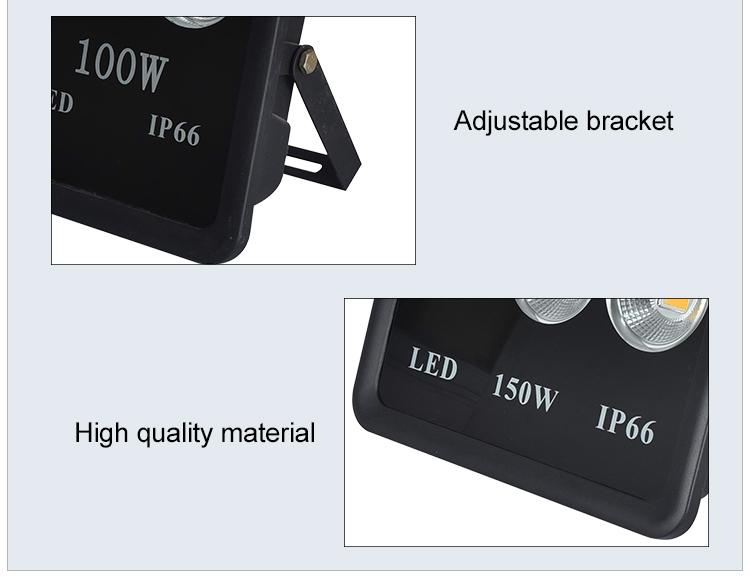 Outdoor lighting fixture ip65 100w 150w 200w 300w 400w 600w led floodlight
