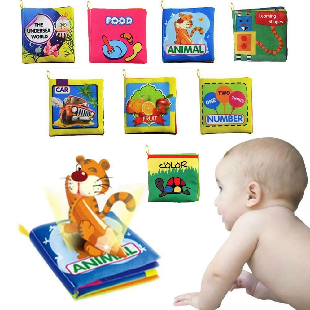 labebe Babys First Book Baby Boy Book/Baby Book Girl/Alphabet Book/Toy Book/Children Activity Book/Baby Book Set/Toddler Book Set/Jungle Book 6-Pack Cloth Educational Book for Baby Aged 3-24 Month