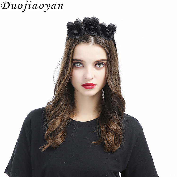 Hot Sale Cheap Party Flower Band Festival Accessories Halloween Decoration Headband For Women Girls