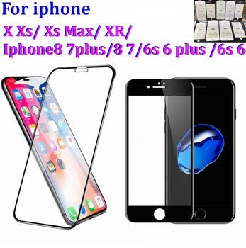 3D 5D 9D Curved Edge Full Cover Tempered Glass Front Screen Protector Protective Film For iphone X Xs Max XR 8 7 6s plus