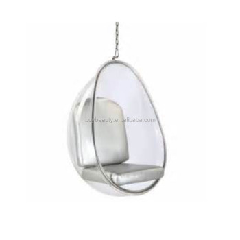 Clear Acrylic Hanging Egg Pod Chair