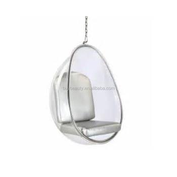 Bon Clear Acrylic Hanging Egg Pod Chair