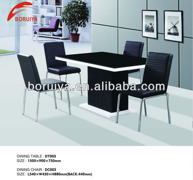 2016 Furniture Top Glass Mdf Fashion Design Dining Table