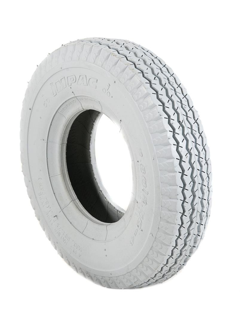 2 Grey Air Filled Pneumatic Block Tread Mobility Scooter Tyres 280/250 x 4