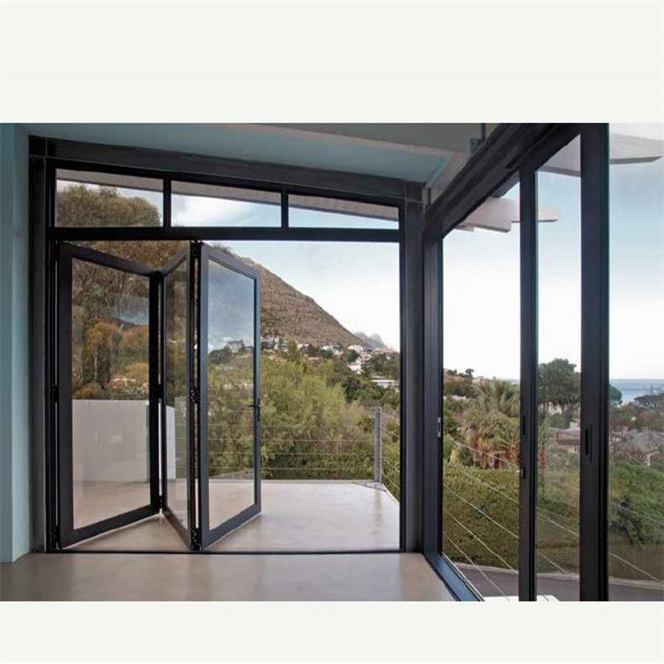 Commercial Exterior Accordion Folding Glass Doors Bi Folding Doors