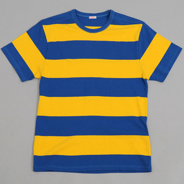 summer design mens blue yellow stripe t shirt buy mens