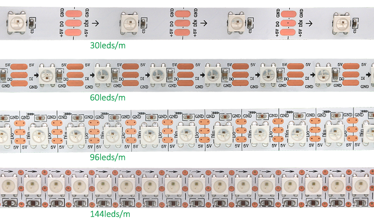 30 60 144 Leds Digital Rgb Led Pixel Strip Light Ws2812