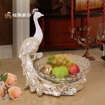 Wholesale Home Decor Table Statue Crafts Resin Animal Peacock Fruit Plate For Livingroom Decorative Item Buy Wholesale Home Decor Table Statue