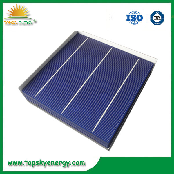 low efficiency solar cell poly 16.7% Eff.