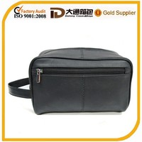 leather travel toiletry bag for man