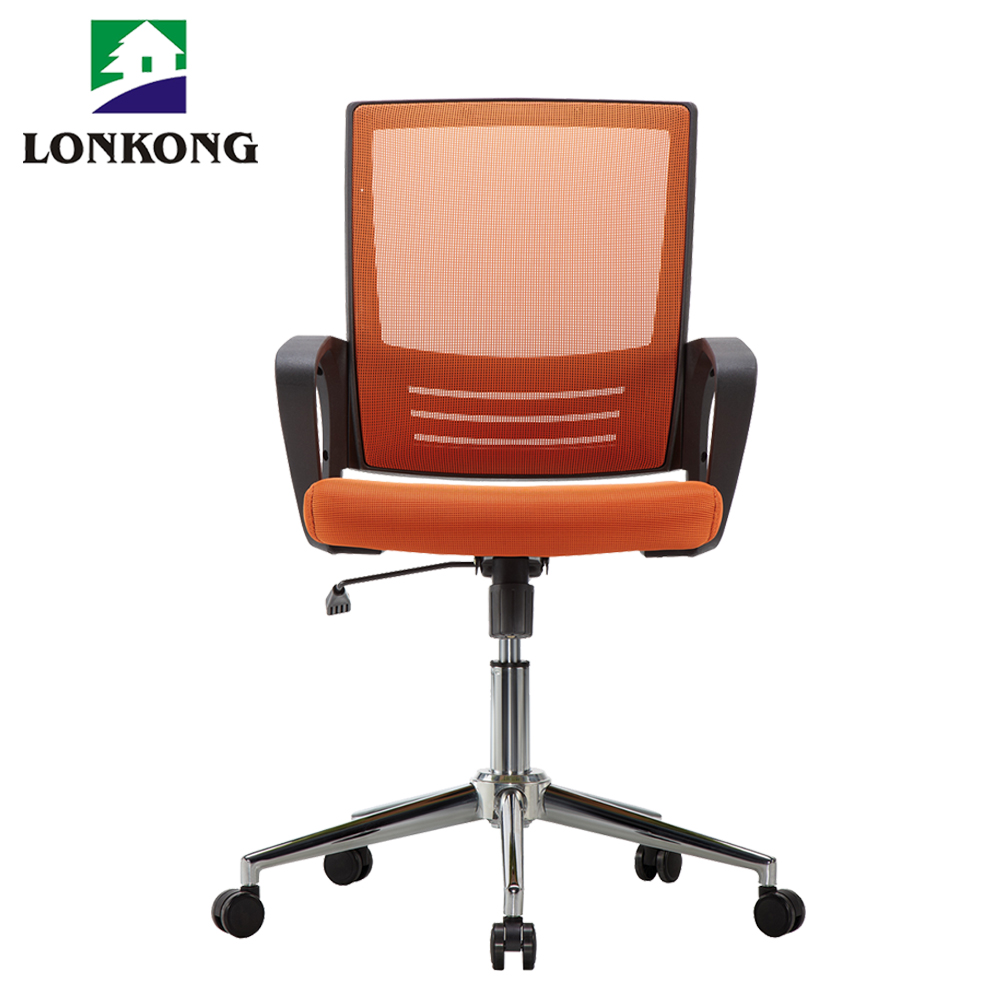Flexible mid-back mesh chair fixed armrest mesh chair
