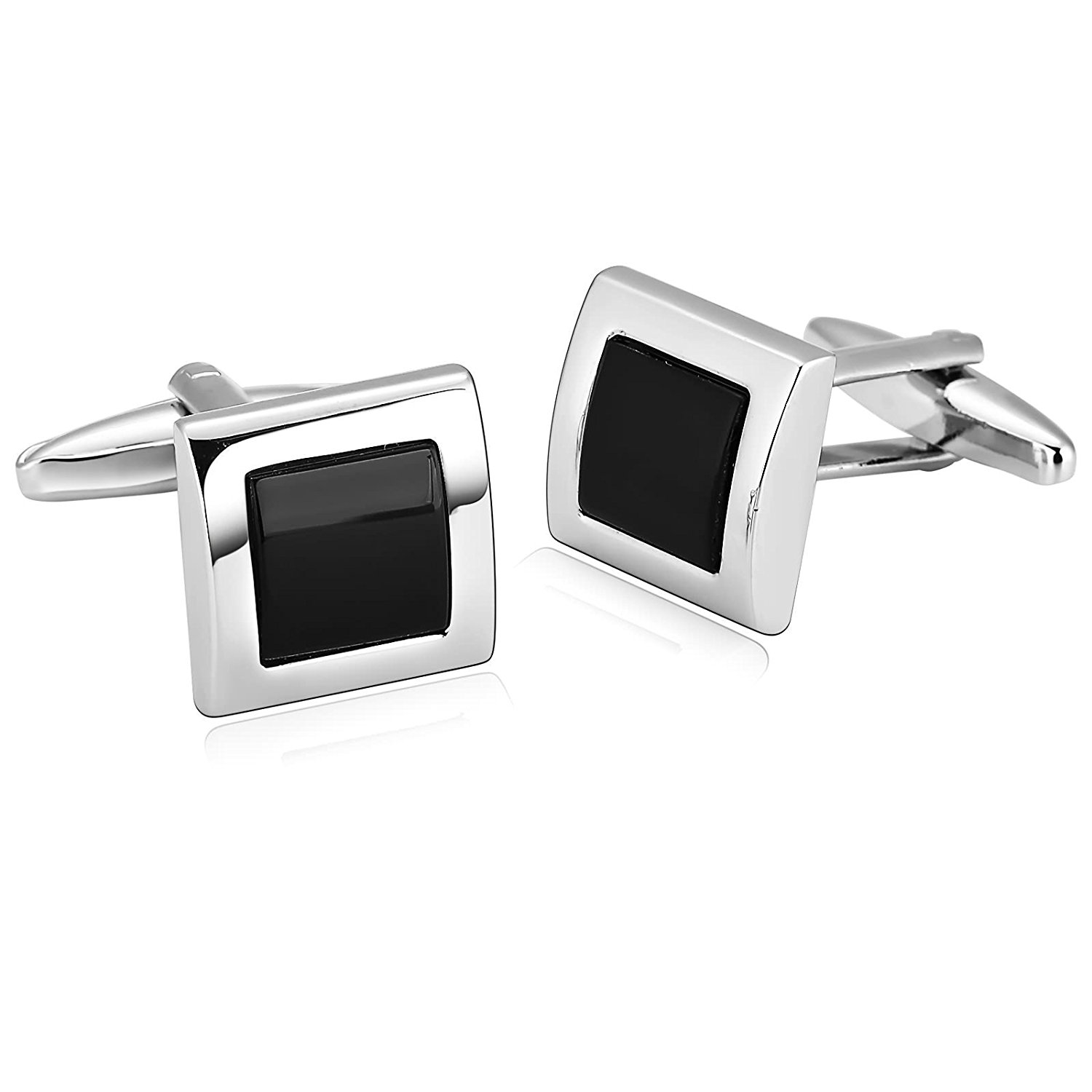 Many Styles Classic Mens Cufflinks Stainless Steel Tuxedo Cufflinks 1 Pair Wedding Dad Unique Jewelry Box Fancy Elegant Aooaz