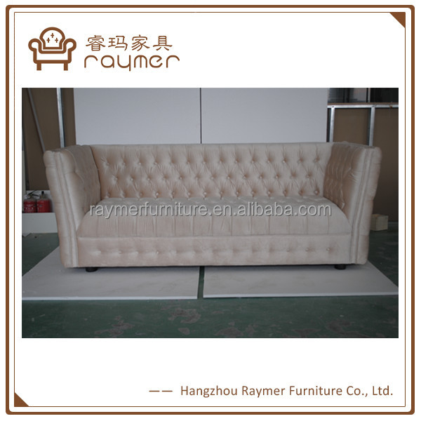 Import furniture from China Mid east hotel furniture cream velvet sofa