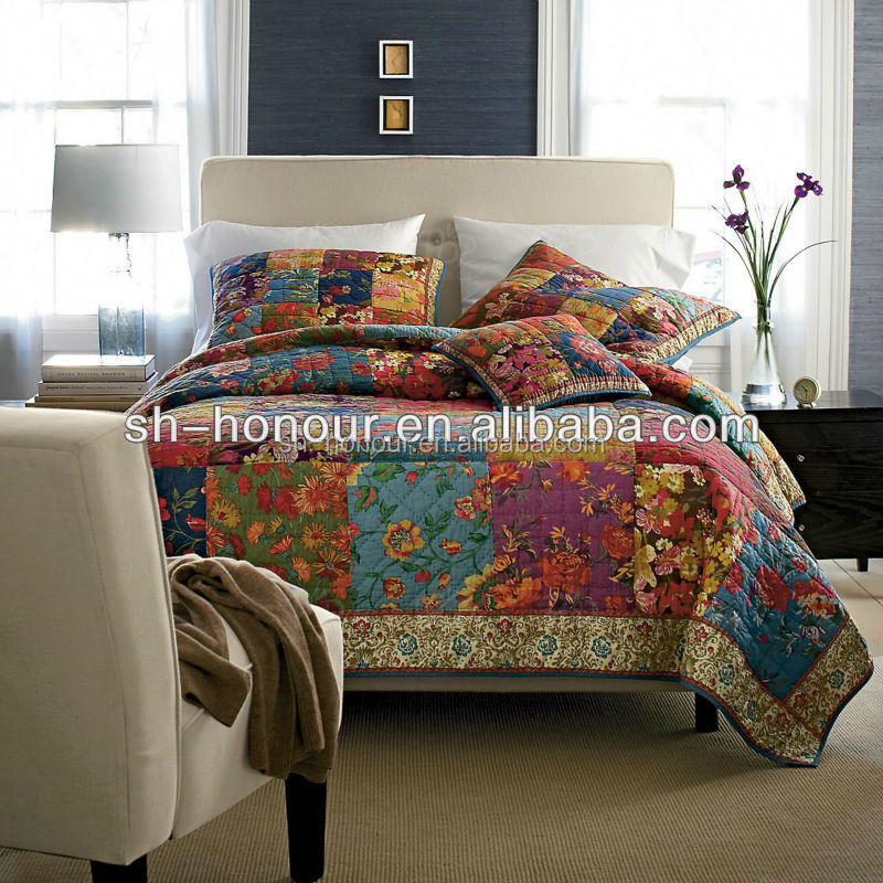 100 Indian Cotton Patchwork Quilted Bedspread
