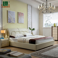 G6685 super quality comfortable leather bed,modern bed furniture,bedroom furniture