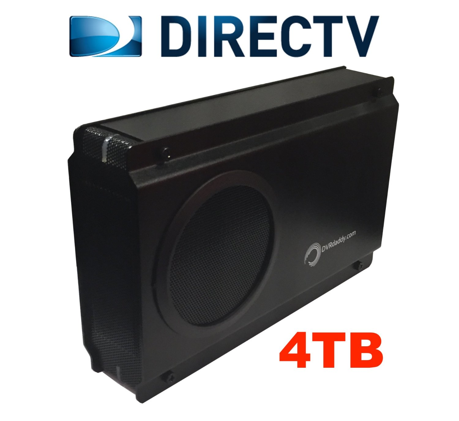 4TB External DVR Hard Drive Expander For DirecTV HR34 and HR44 Genie DVR. +4,000 Hours Recording Capacity and Free Shipping!