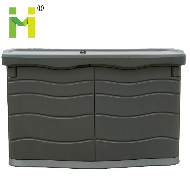 Plastic waterproof outdoor Deck storage box