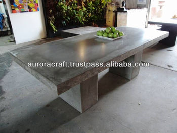 Outdoor Lightweight Concrete Table
