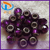 Best Design 14MM Purple Clear Large Hole Faceted Lampwork Glass Murano Beads