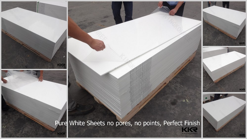 Wholesale Pure White Dupont Corian Lg Marble Solid Surface
