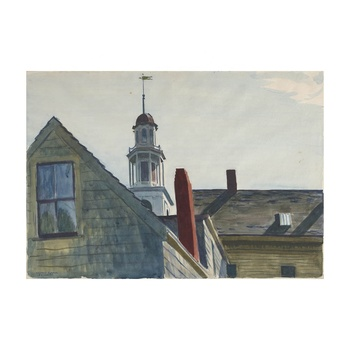 Free Shipping Edward Hopper Giclee Canvas Print Paintings Poster Reproduction Fine Art Wall Decor(Universalist Church)