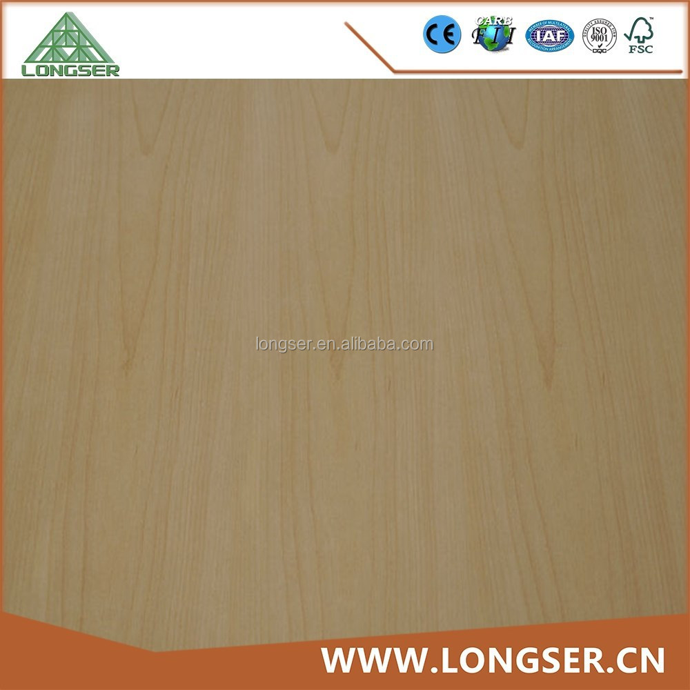 Furniture and interior decoration 4x8 feet beech veneered plywood