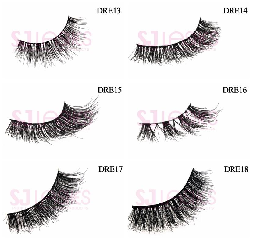 100 Remy Hair Custom Brand Lashes Human Hair Strip Eyelashes 3d