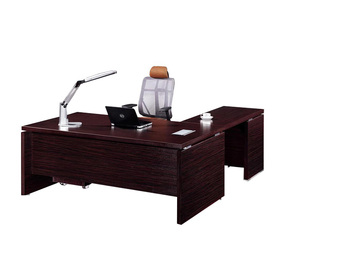 Factory Price Cherry Wood Curved Office
