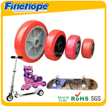 PU polyurethane 2015 New Cheapest Fold and Adjustable Power Wheel chair,car wheels