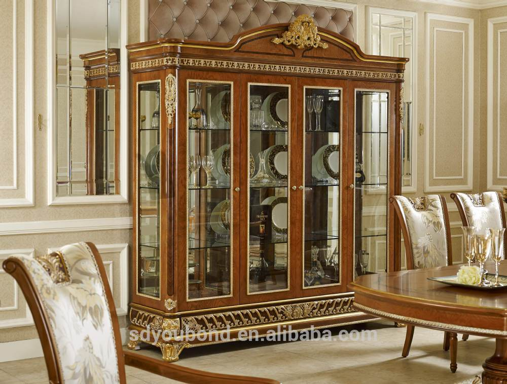 2015 0062 Italian Classic Antique Living Room Display Showcase Design