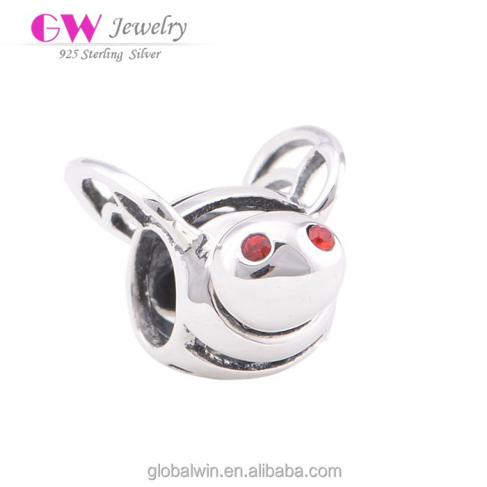 2015 New Model Animal Shaped Beads Wholesale Jewellery Bee Charms X051