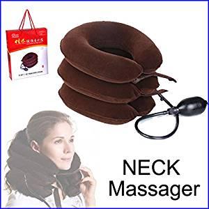 RedSonics(TM) Cervical Vertebra Tractor Massager Nap Pillow Traction Massage Pillow Relief Neck Back Shoulder Pain