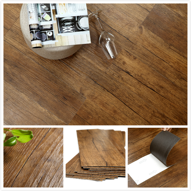 Industrial Flooring That Looks Like Wood: Non-slip Commercial Flooring Wood Pattern Glue Down Vinyl