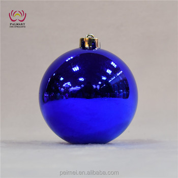 dark blue shiny ball night blue christmas decoration plastic ball blue plastic christmas bauble