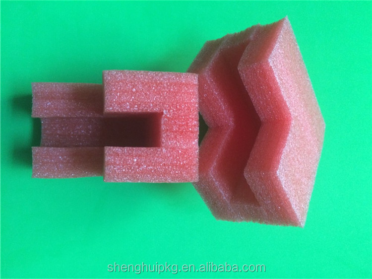 Red Color Light Weight Durable EPE Foam Corner Protector EPE Foam Edge Protection Section EPE Corner Protection Foam