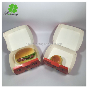 Custom design clamshell burger box export to Australia