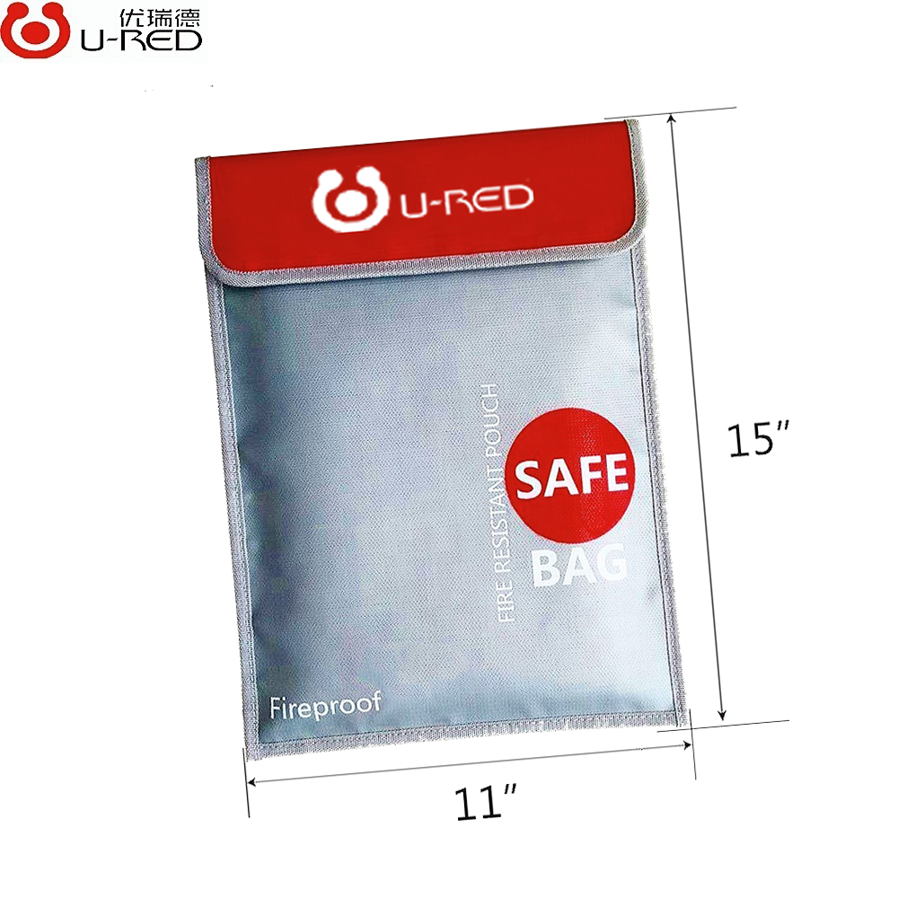 wholesale fiberglass insulation waterproof document fireproof bag for money