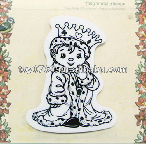 Stempels King cartoon rubber stamp