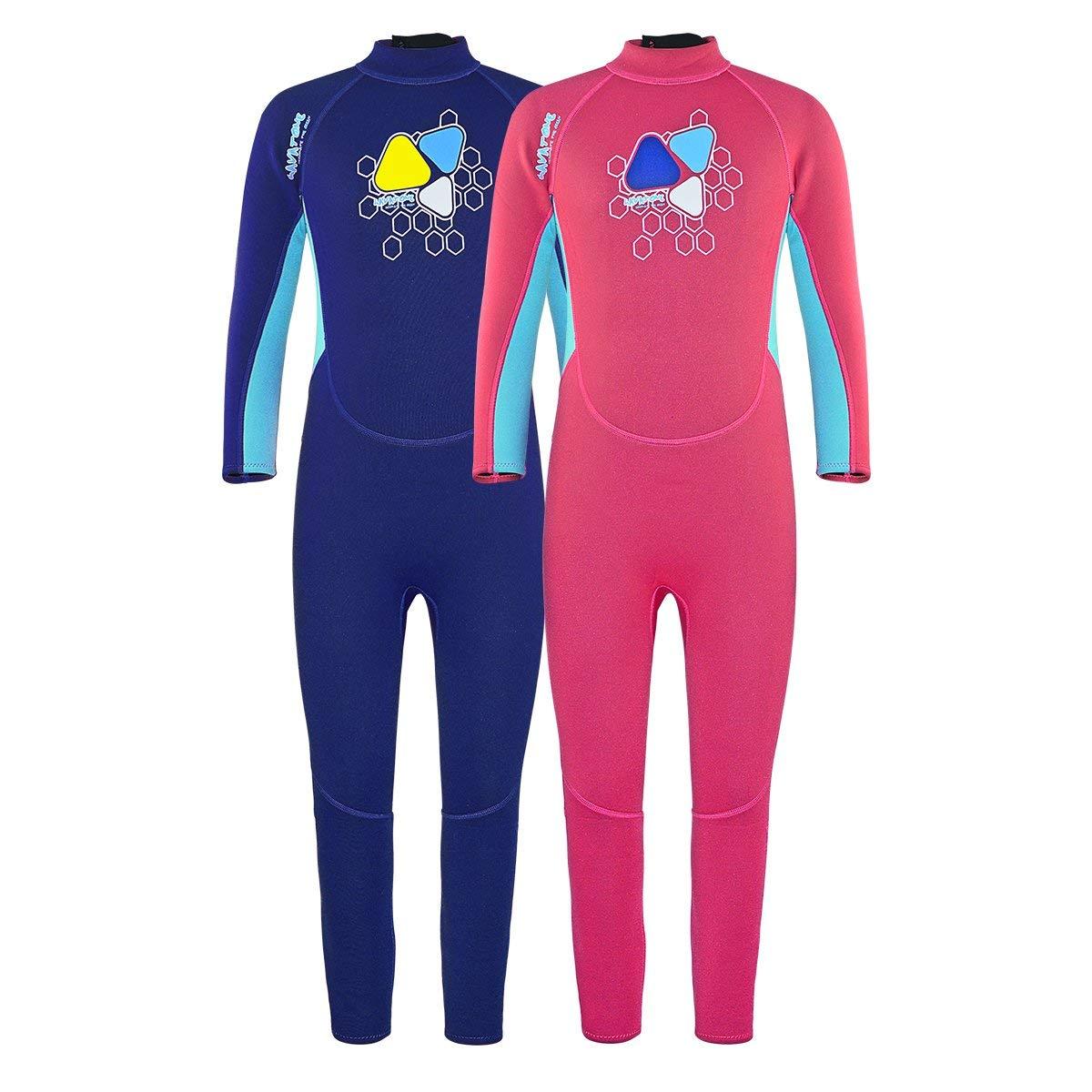 8bb797dc3c Get Quotations · Layatone Wetsuit Kids Premium 2mm Neoprene Wetsuit for  Girl Boy Full Body Diving Suit -UV
