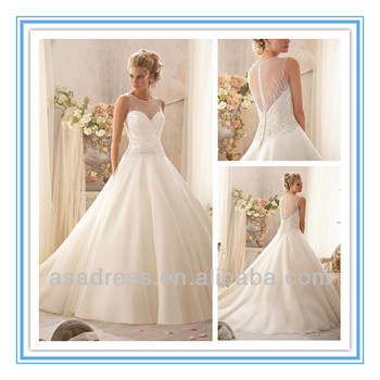 New Modern Delicate Crystal Beading Wedding Gowns Latest Design Ball ...
