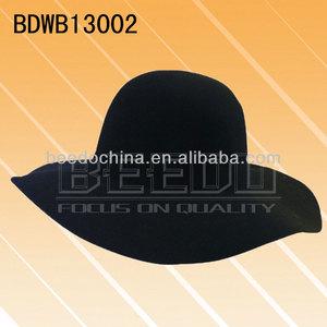d007c93206aa6 Wholesale Good Quality 100%Wool Black Felt Dome Hat Blanks Felt Floppy Hat  Bodies