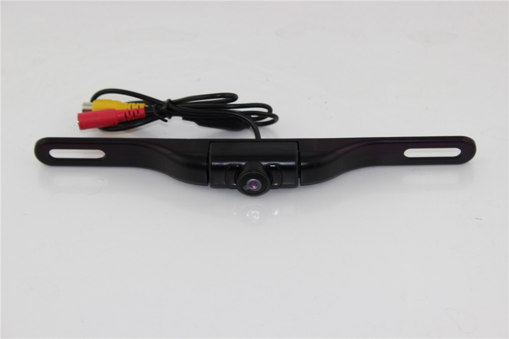 2015 NEW easy install night vision license plate backup rearview camera