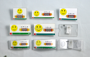 Acrylic Smile Badge Holder Transparent Smile Badge Holder