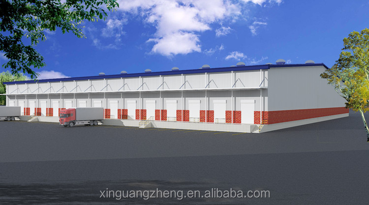 Prefabricated light steel strucutre logistics warehouse