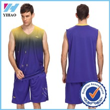Men sports Jersey basketball wear basketball uniform 2015 Yihao wholesale custom