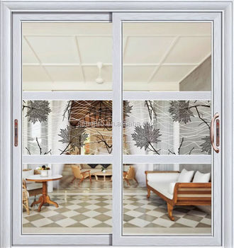 Interior pvc profile sliding partition glass kitchen door for Interior sliding partition doors
