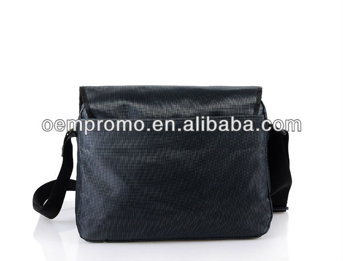 Promotional black polyester messenger bag, Shoulder bag