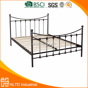 cheap single metal bed frame with wood slats - Cheap Single Bed Frames